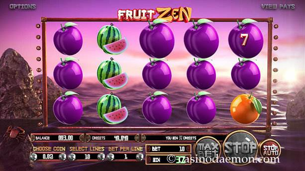Fruit Zen Spielautomat screenshot 3