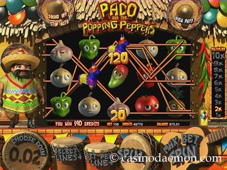 Paco and the Popping Peppers slot screenshot 1