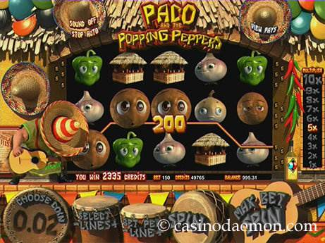 Paco and the Popping Peppers slot screenshot 2