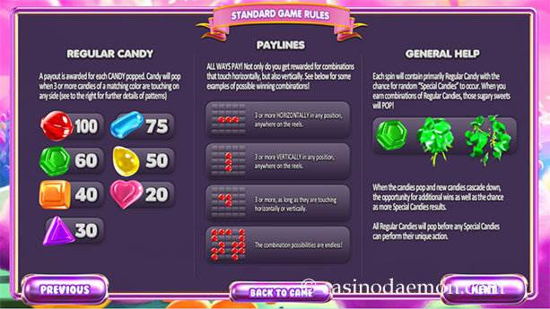 SugarPop Spielautomat screenshot 4