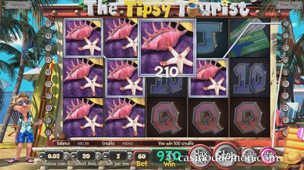 The Tipsy Tourist slot screenshot 1
