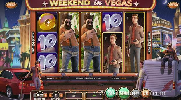 Weekend in Vegas slot screenshot 1