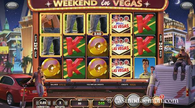 Weekend in Vegas slot screenshot 2
