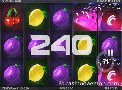 DJ Wild slot screenshot 1