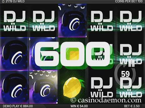 DJ Wild slot screenshot 3
