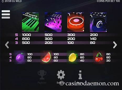 DJ Wild slot screenshot 4