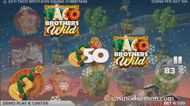 Taco Brothers Saving Christmas Spielautomat screenshot 1