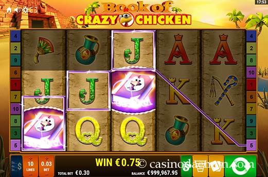 Book of Crazy Chicken slot screenshot 1