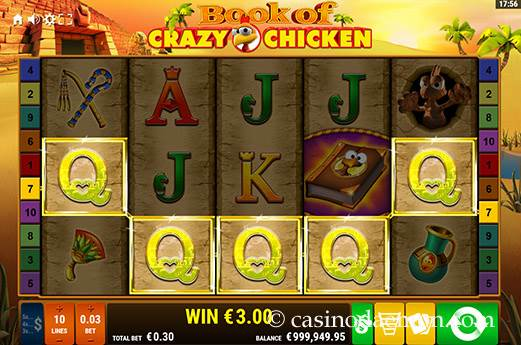 Book of Crazy Chicken slot screenshot 2