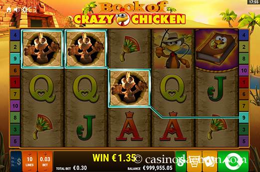 Book of Crazy Chicken slot screenshot 3