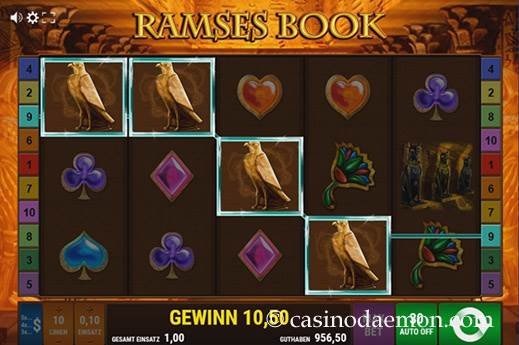Ramses Book Spielautomat screenshot 2