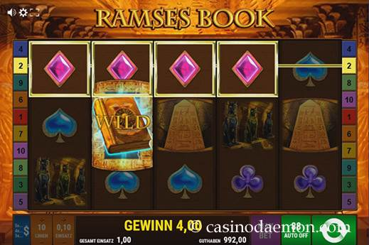 Ramses Book Spielautomat screenshot 3