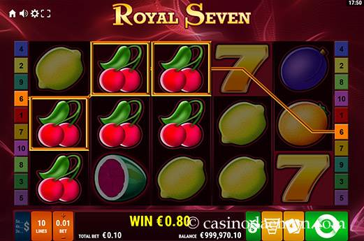 Royal Seven Spielautomat screenshot 2