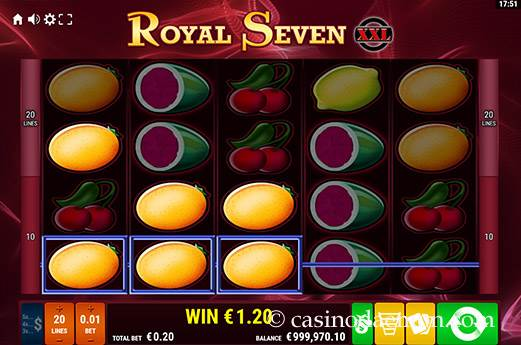Royal Seven XXL Spielautomat screenshot 2