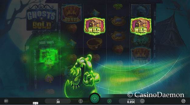 Ghosts 'N' Gold slot screenshot 1