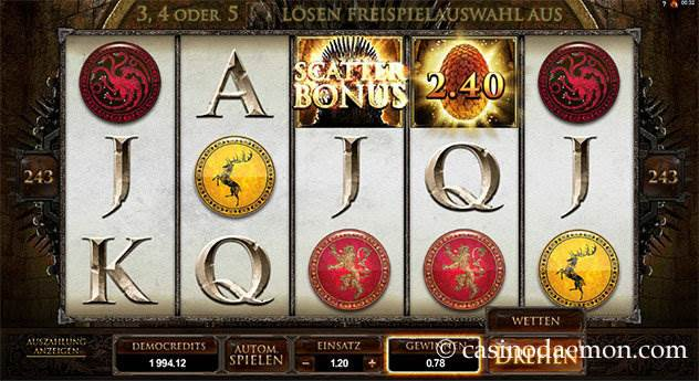 Game of Thrones  Spielautomat screenshot 2