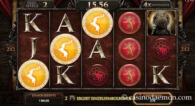Game of Thrones  Spielautomat screenshot 3
