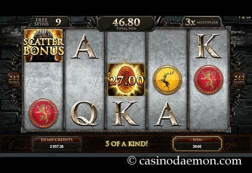 Game of Thrones slot screenshot 3