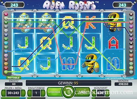 Alien Robots Spielautomat screenshot 1
