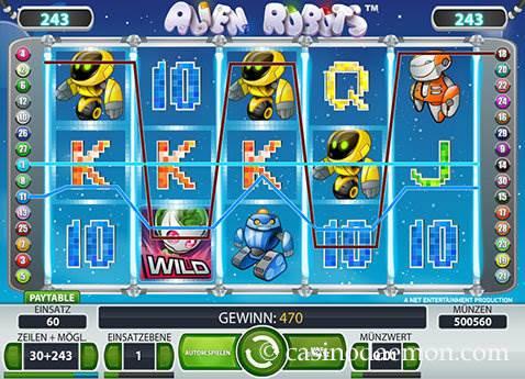 Alien Robots Spielautomat screenshot 2