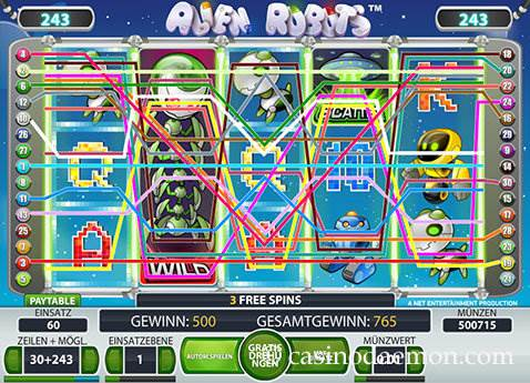 Alien Robots Spielautomat screenshot 3