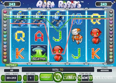 Alien Robots slot screenshot 1
