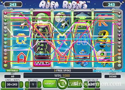Alien Robots slot screenshot 2
