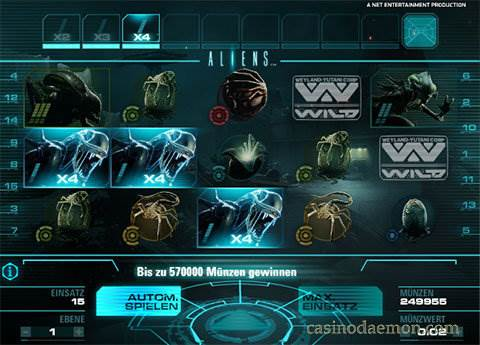 Aliens Spielautomat screenshot 1
