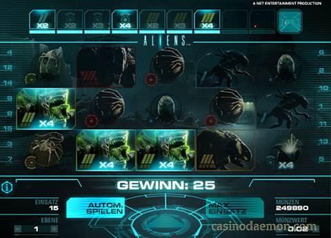 Aliens Spielautomat screenshot 2