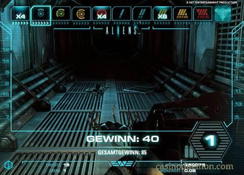 Aliens Spielautomat screenshot 3