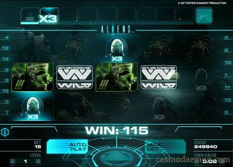 Aliens slot screenshot 1