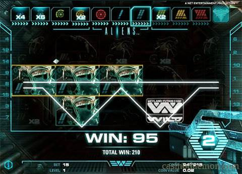 Aliens slot screenshot 3