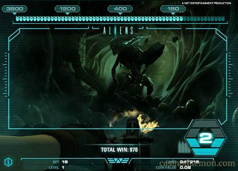 Aliens slot screenshot 4