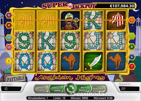 Arabian Nights Spielautomat screenshot 1