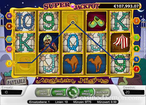 Arabian Nights Spielautomat screenshot 2