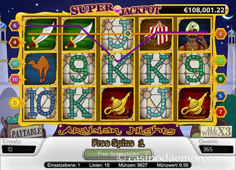 Arabian Nights Spielautomat screenshot 3