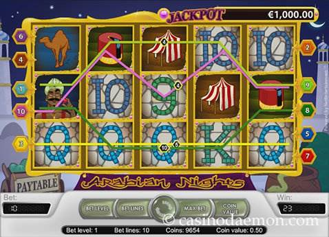 Arabian Nights slot screenshot 1