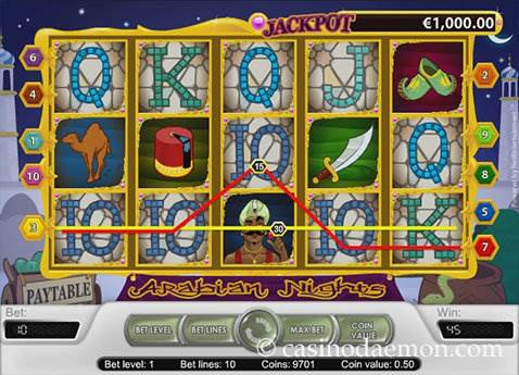 Arabian Nights slot screenshot 2