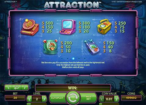 Attraction slot screenshot 4