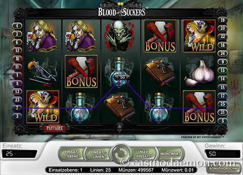 Blood Suckers Spielautomat screenshot 1