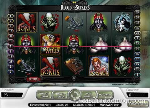 Blood Suckers Spielautomat screenshot 2