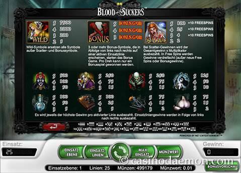 Blood Suckers Spielautomat screenshot 3