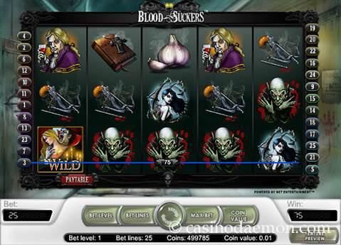 Blood Suckers slot screenshot 1