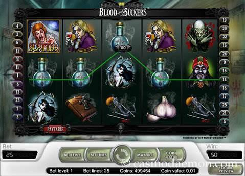 Blood Suckers slot screenshot 2