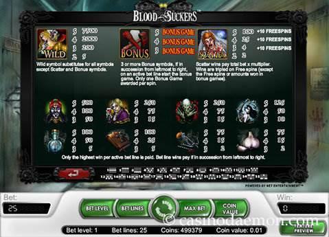 Blood Suckers slot screenshot 4