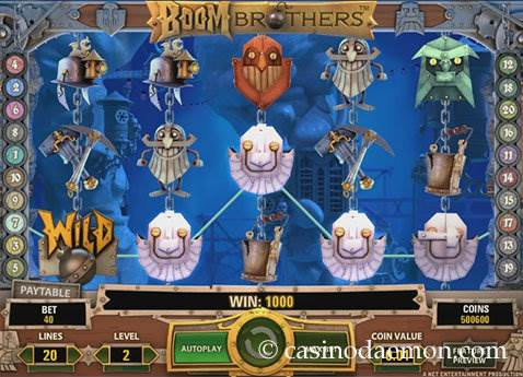 Boom Brothers Spielautomat screenshot 1
