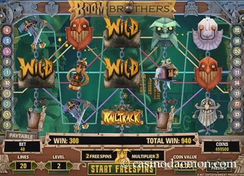 Boom Brothers Spielautomat screenshot 2