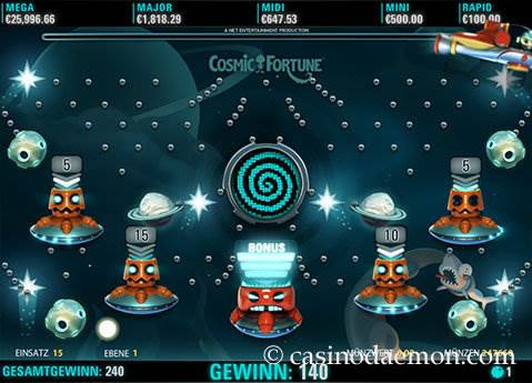 Cosmic Fortune Spielautomat screenshot 2