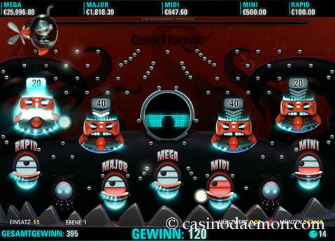 Cosmic Fortune Spielautomat screenshot 3