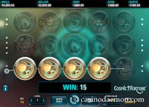 Cosmic Fortune slot screenshot 1